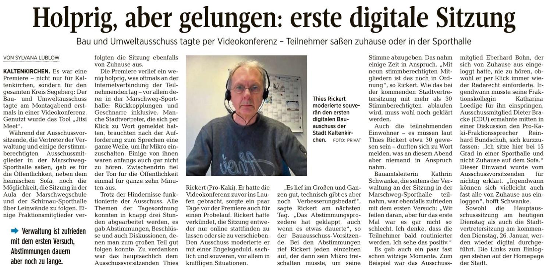 Presseschau: Digitaler Bau-/Umweltausschuss und Grünflächen nicht vergessen